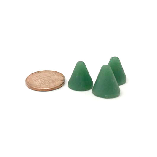 Cone 3/8 X 3/8 X Green Plastic Media, 50 lbs