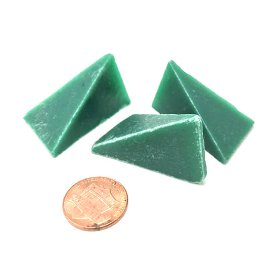 Wedge 1 1/2 X 1 X Green Plastic Media, 50 lbs