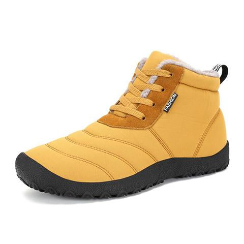 Shoes - Waterproof Antiskid Lace Up Cotton Boots