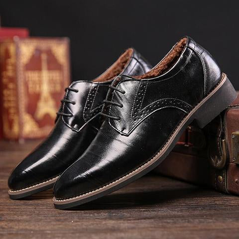 Shoes - Real Cowhide Leather Oxford Cotton Shoes