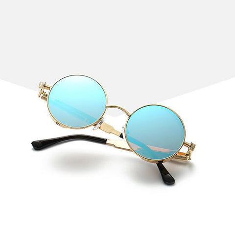 Sunglasses - Vintage Mirrored SteamPunk Sunglasses