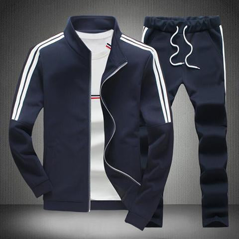 Suits - Men Fashion Striped Sportwear Suits