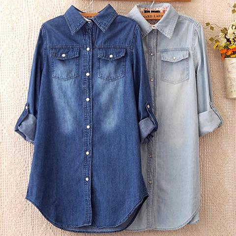 Sweatshirt - Spring New Purified Cotton Jeans Overshirt