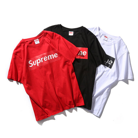 T-Shirt  2018 Mens Supreme t shirts100% Cotton short sleeved t-shirt