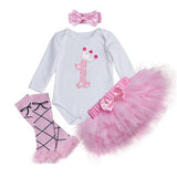 Baby Clothing - 4Pcs Pink Lace Skirt Infant Clothes Sets