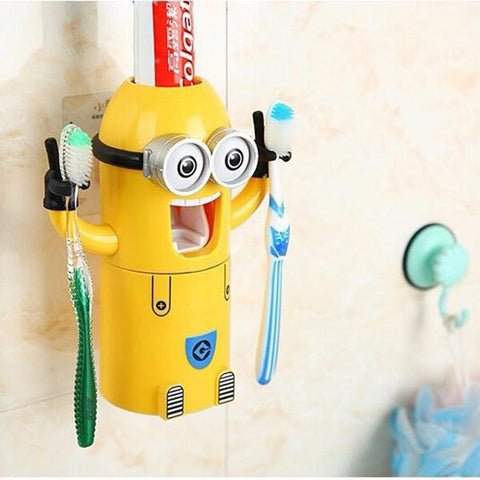 Gadgets - Kids Cartoon Yellow Doll Minions Toothbrush Holder