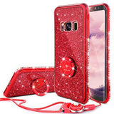 Phone Case - Bling Diamond Luxury Magnetic Case With Ring Holder