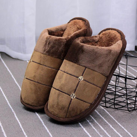 Shoes - Winter Thick Cotton Antiskid Slippers At Home