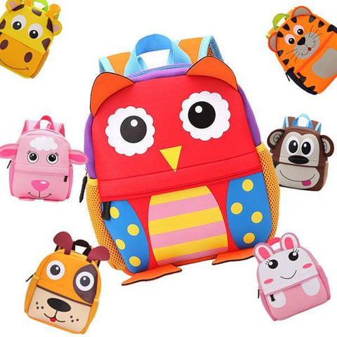 Kids - 2017 3D Cute Animal Design Backpack