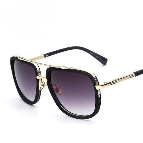Sunglasses - Retro Vintage Style Gold Frame Unisex Sunglasses