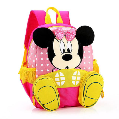 Kids Backpacks - Cute Mickey & Minnie School Bags