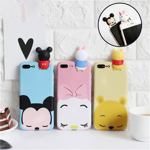 Phone Case - 3D Cute Cartoon Phone Case