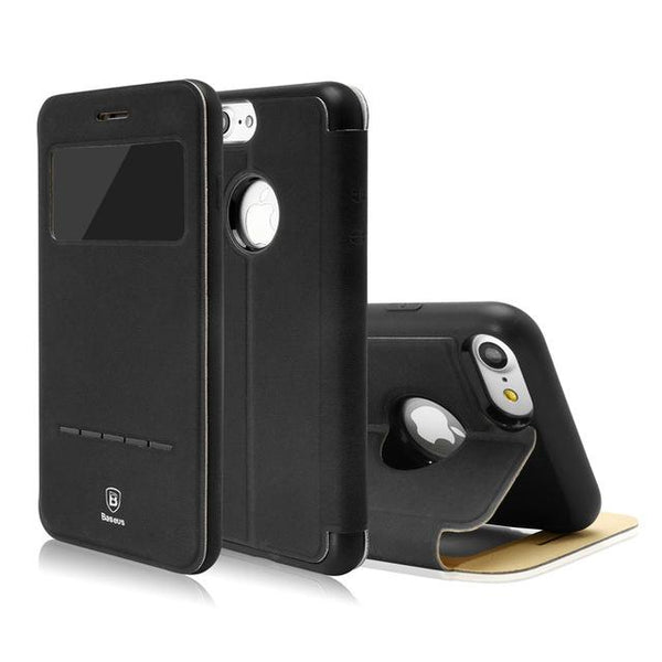 Phone Case - Ultra Thin Smart Leather IPhone Shell