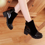 Boots - Round Toe Ankle Buckle Boots