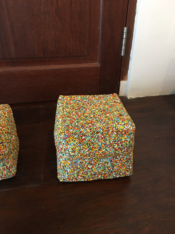 BEADED BOXES LARGE NO 14 MULTICOLORED