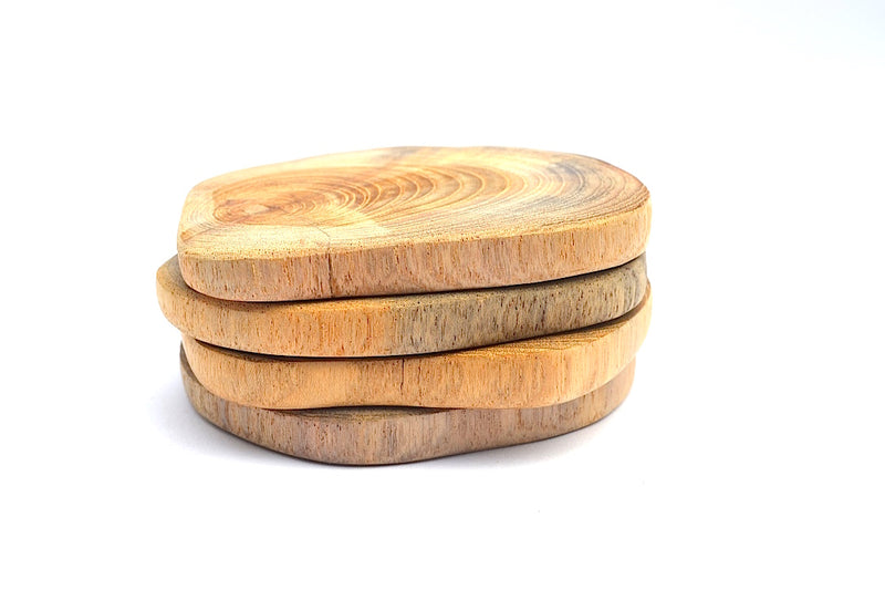 TEAK NATURAL SHAPE COASTER