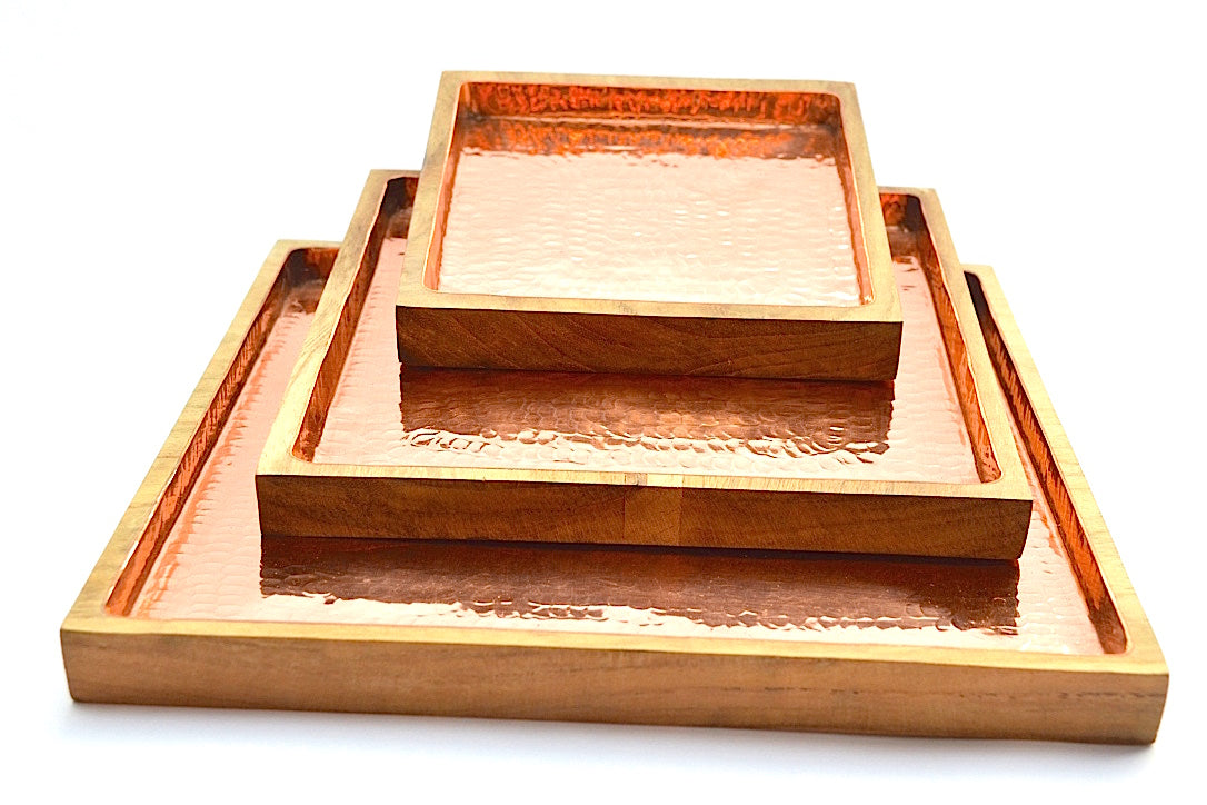 HAMMERED COPPER SQUARE TRAY