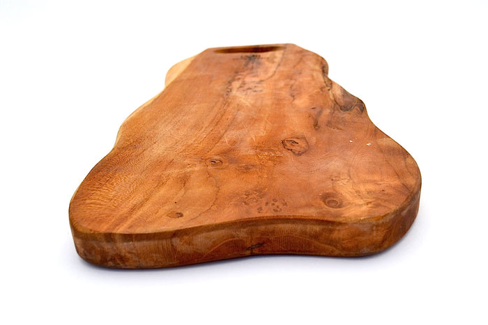 TEAK MEDIUM CURVE CUTTING BOARD