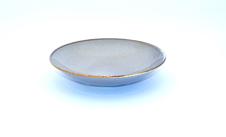 CHANTRICE GOLD SPLATTERED SOUP PLATE GREY