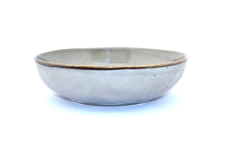CHANTAL GOLD SPATTERED SALAD BOWL GREY