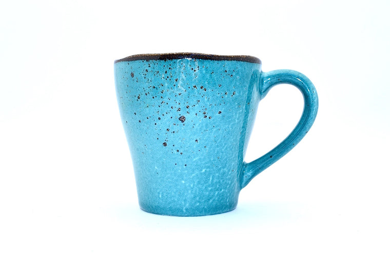 CHANTAL GOLD SPLATTERED MUG TURQUOISE