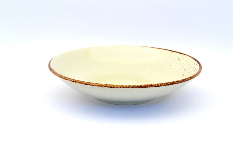 CHANTRICE GOLD SPLATTERED SOUP PLATE BEIGE