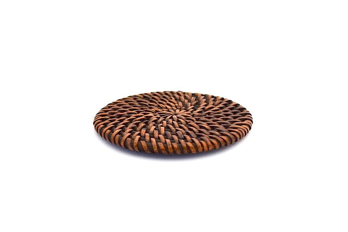ROUND COLORED BAMBOO COASTER