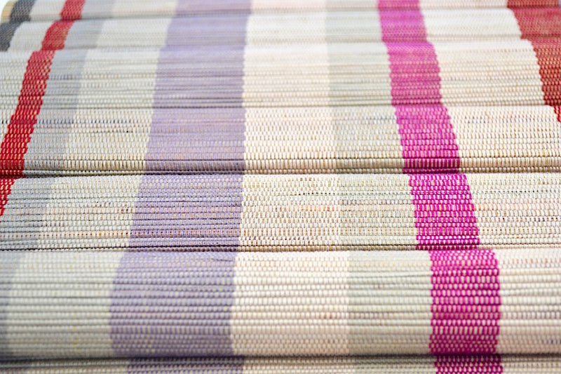 LAVENDER RAINBOW BAMBOO PLACEMATS W BANGS