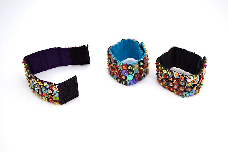 HUICHOL BEADED CUFF BAND