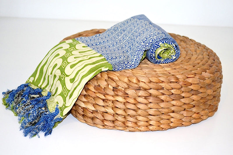 SARONG BATIK QUILT DARK BLUE & GREEN
