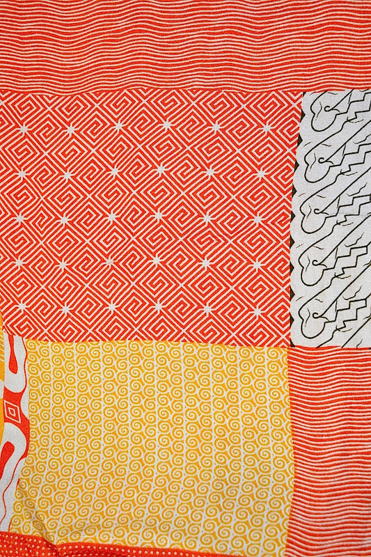 SARONG BATIK QUILT ORANGE YELLOW