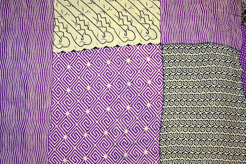SARONG BATIK QUILT PURPLE & BLACK
