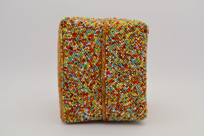 BEADED BOX LARGE MEDIUM SMALL 14 MULTICOLORED