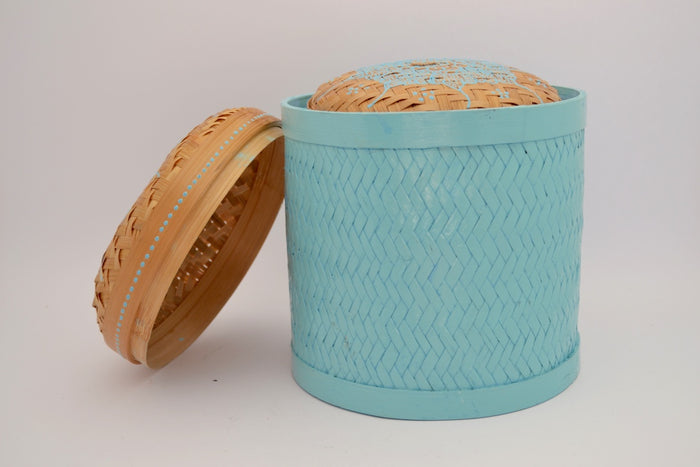 Basket Bamboo Roti Painted Set 17 Large/Medium/Small