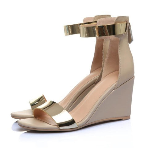 Golden Ankle Sandals