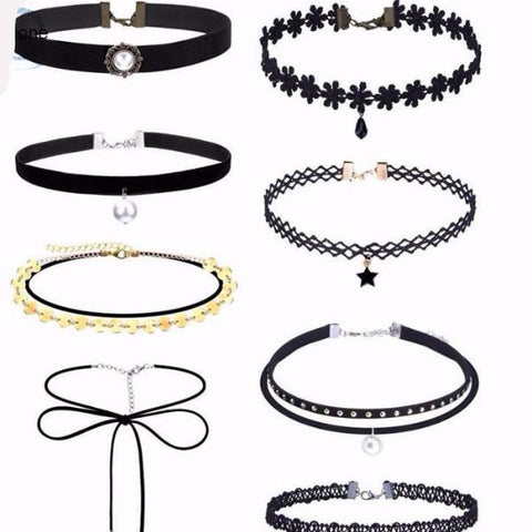 Sexy Choker Set - 8 Pieces