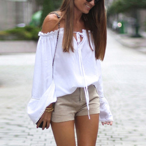 Sexy Off Shoulder Shirt