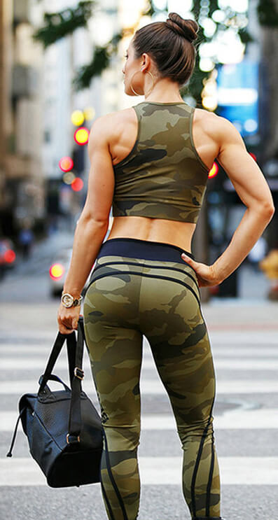 Camouflage Army Workout High Waist Leggings