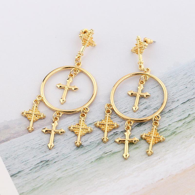 Crucifix Pendant Earrings