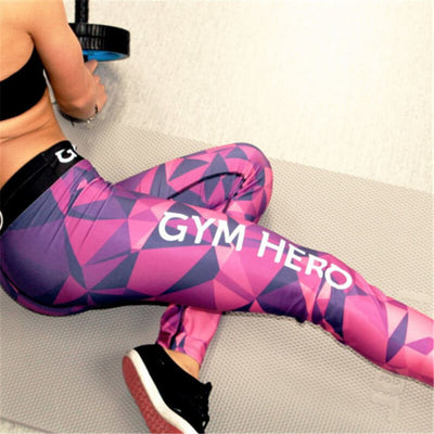 Fashion Multicolor Letter Print Sport  Sweatpants