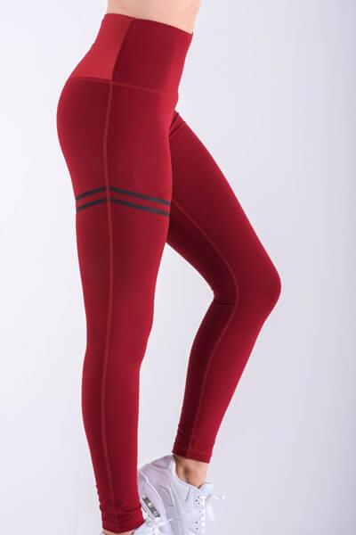 Bicyclic Printed High-waisted Leggings