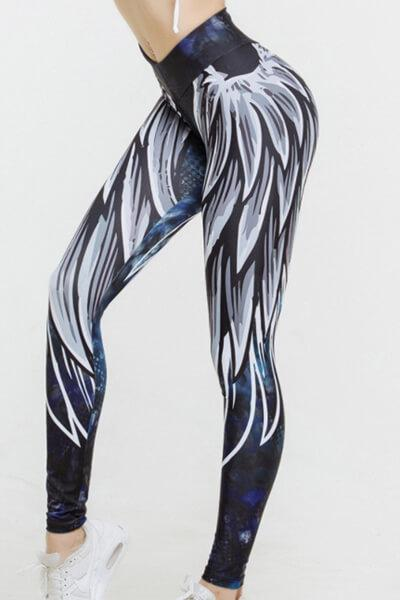 Angle Wings Printed High-waisted Leggings