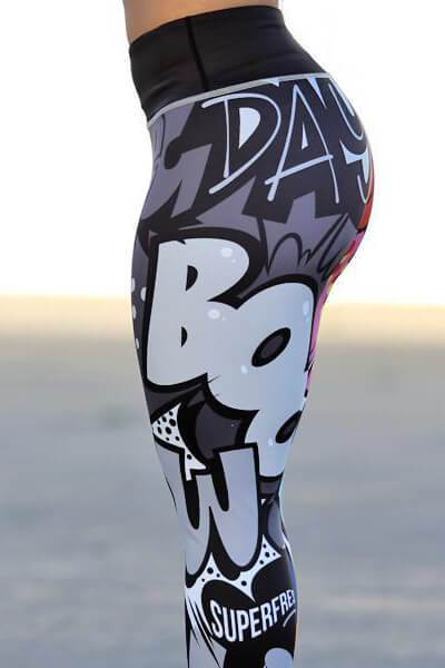 Little Monsters Printed High-waisted Leggings