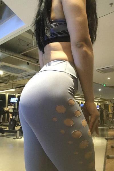Circular Hollow High-waisted Leggings