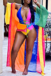 Candy Multicolor Patchwork Swimwear