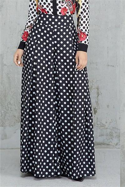 Polka-Dot Wide Leg Slacks