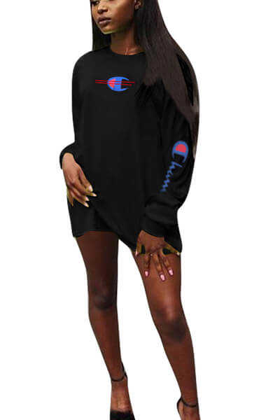 Champion printing T-shirt Dress
