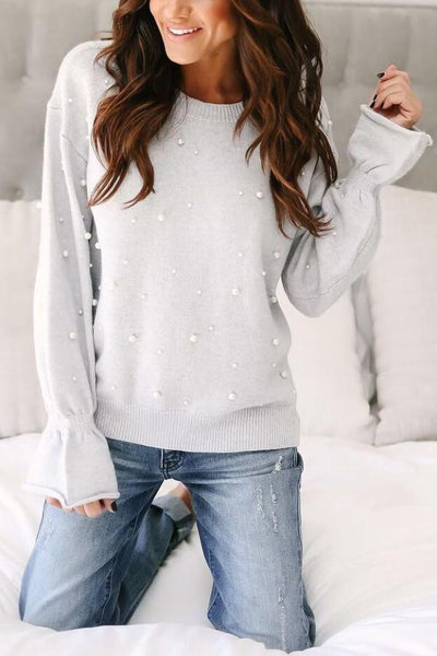 Bell Sleeve Pearl Sweater