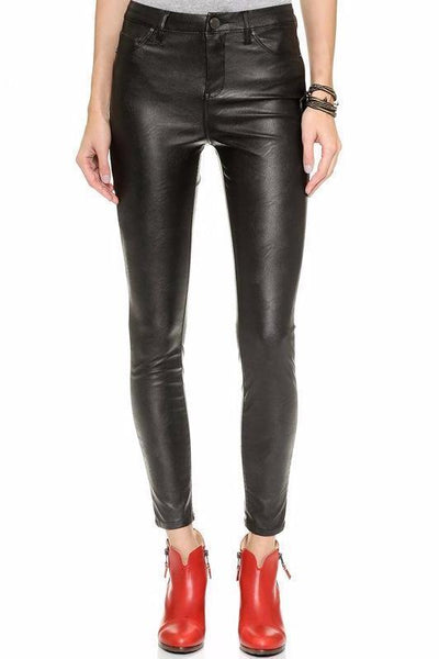 Black Premium Faux Leather Pants