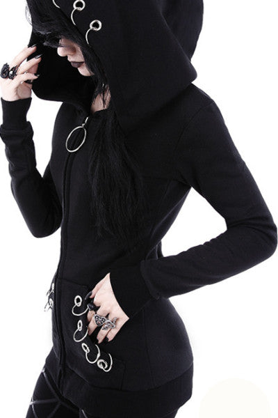 Black-Punk-Iron-Ring-Hoodies